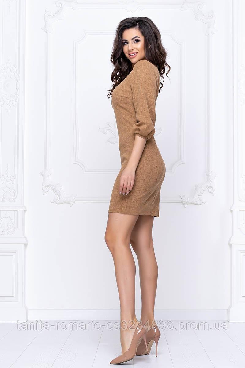 Повсякденна сукня рукавчик ліхтарик гірчичного кольору L