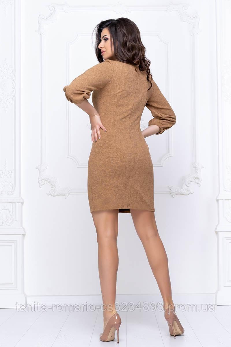 Повсякденна сукня рукавчик ліхтарик гірчичного кольору XL