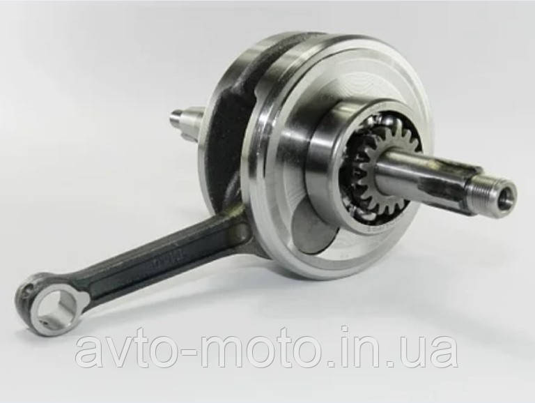 Коленвал Дельта Альфа 125cм3 (с шестерней маслонасоса) для двигателя TTR