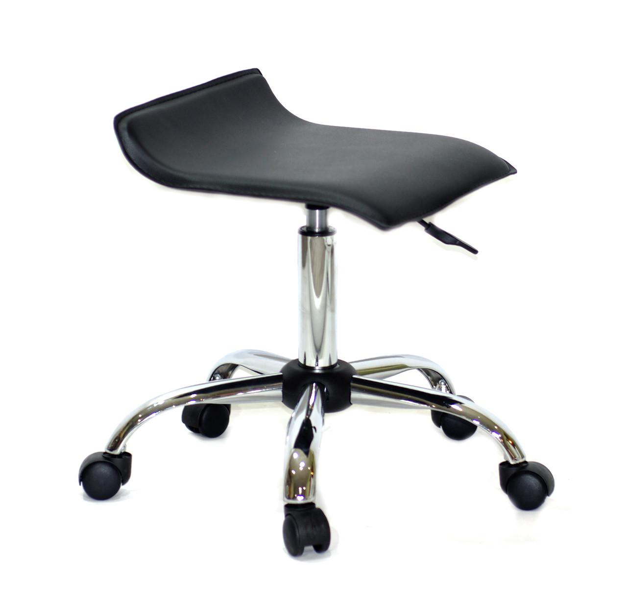 Офісний стілець на коліщатках з еко шкіри з хромованим підставою ABAZ CH-OFFICE