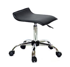 Офісний стілець на коліщатках з еко шкіри з хромованим підставою ABAZ CH-OFFICE, фото 2