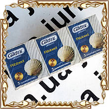 Презервативы CONTEX 3 шт./уп.  (12 уп./бл.) Таиланд-Украина Ribbed (ребристые)