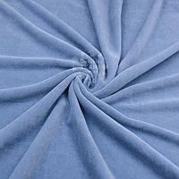 Велюр х/б грязно-голубого цвета