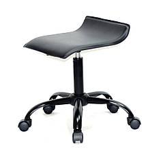 Офісний стілець на коліщатках з еко шкіри з хромованим підставою ABAZ CH-OFFICE, фото 3