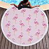 Пляжный коврик розовый Полосатый Фламинго. 150см., фото 2
