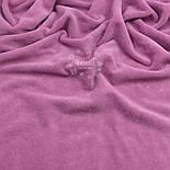 Велюр х/б тёмно-сиреневого цвета, фото 2