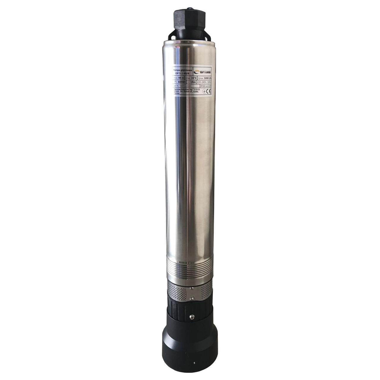 Насос скважинный с нижним забором воды (колодезный) OPTIMA OP 5,1 - 48/6 0,6 кВт