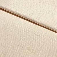 Вафельная ткань однотонная светлая пудра, ширина 50 см