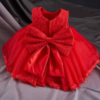 """Детское нарядное платье с бантом """"Принцесса"""" красное для девочки на 3, 4 года"""