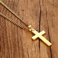 """Кулон """"Крест"""" золотистый, фото 1"""