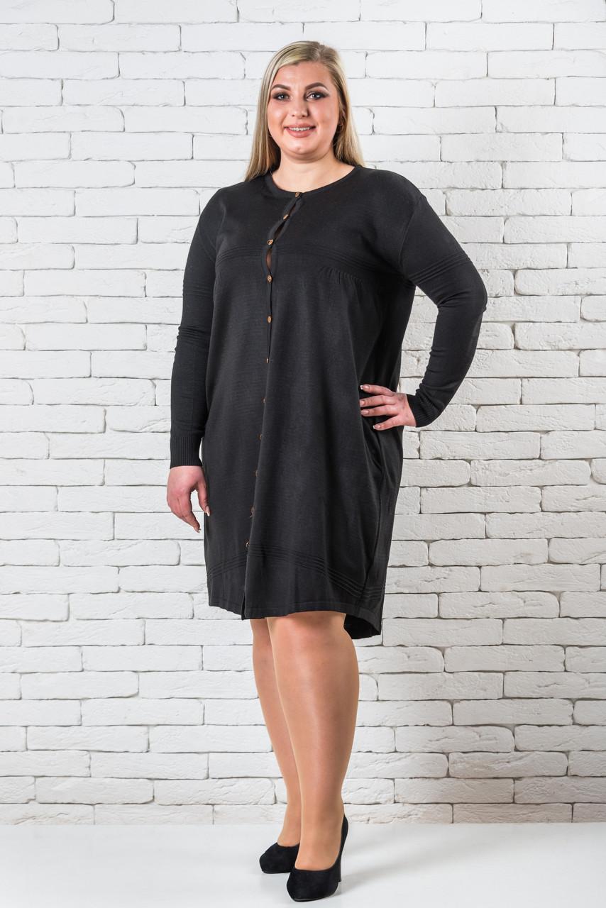 Платья больших размеров интернет-магазин  56-60 черный