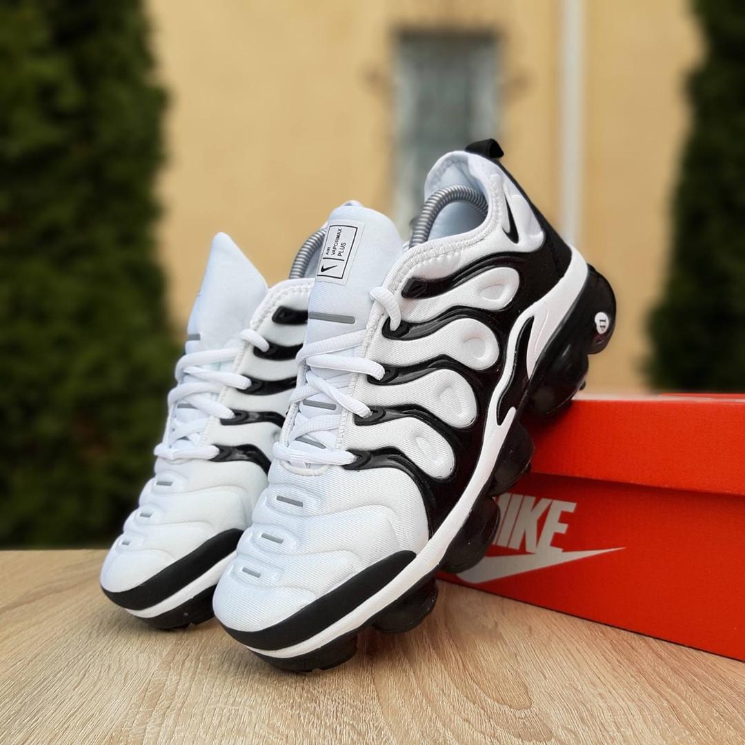 Мужские кроссовки Nike Air VaporMax (бело-черные)