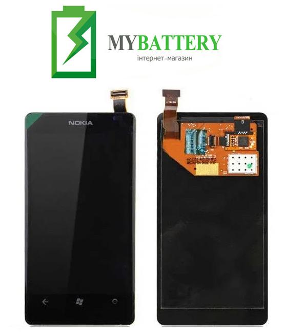 Дисплей (LCD) Nokia 800 Lumia с сенсором черный оригинал