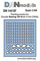 "Маска для сборной модели самолета ""Боинг 787-8"" (Zvezda). 1/144 DANMODELS DM 144107"