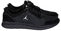 46-50 р! Jordan черные кроссовки мужские летние с сеткой и кожей большого размера Джордан