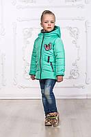 Р-р,110,116, 122, 128, Куртка парка детская демисезонная, для девочки