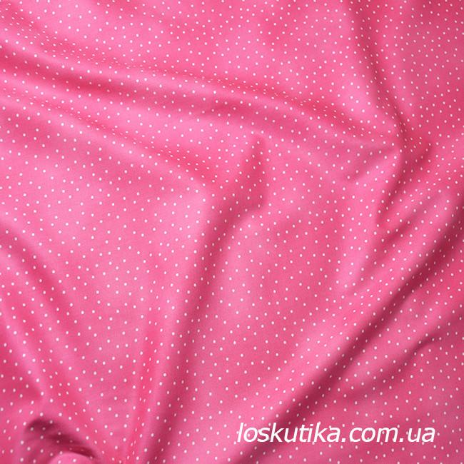 54017 Рассыпной горошек. Розовая. Ткани для кукол, пэчворка, трапунто, для художественной стежки.