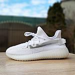 Жіночі кросівки Adidas Yeezy Boost 350 V2 (білі), фото 2