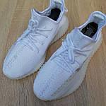 Жіночі кросівки Adidas Yeezy Boost 350 V2 (білі), фото 6