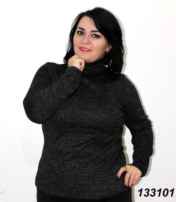 Свитер-водолазка женский,черный 48,50,52,54,56,58 60 62 64р