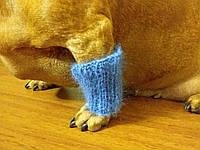 Леггинсы мохер для маленькой собаки,теплые лапы собаки