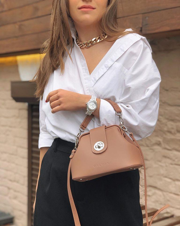 Женская кожаная сумка саквояж VOYAGE MICRO