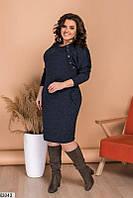 Повседневное платье из ангоры-софт, прямого кроя размеры 48-62