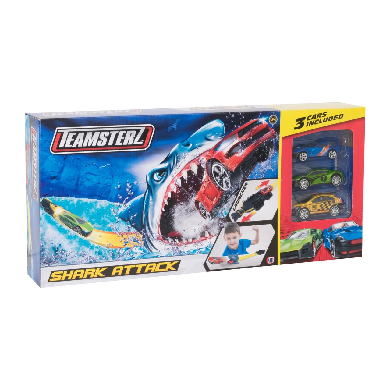 Автотрек Атака акулы с 3 машинками Teamsterz  1416435