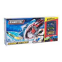 Автотрек Атака акулы с 3 машинками Teamsterz  1416435, фото 1