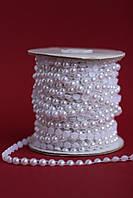 Тасьма з перлин (половинок) біла