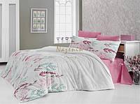 Постельное белье Nazenin Olivia розовое евро размера