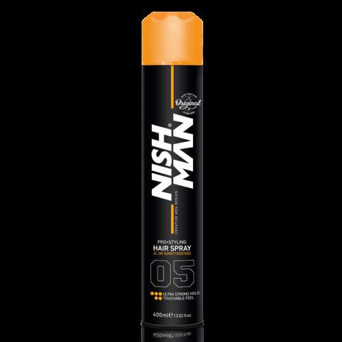 Nishman лак аэрозольный для укладки волос ультра фиксация 400мл