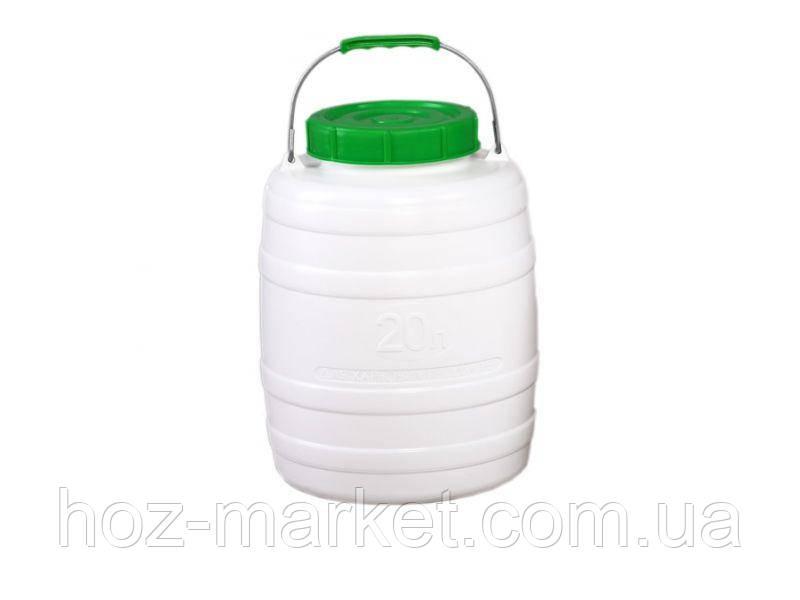 Бочка, фляга пластмасова для питної води 20л з ущільнювальним кільцем