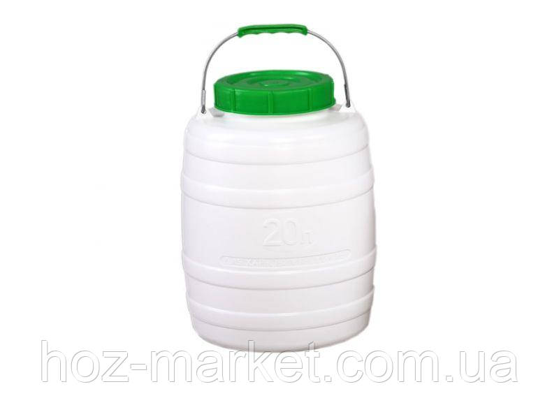 Бочка, фляга пластмассовая для питьевой воды 20л