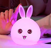 Светильник заяц кролик силиконовый. Ночник заяц кролик