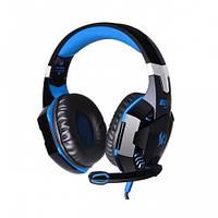 Игровые наушники Kotion Each G2000 с микрофоном и подсветкой Black Blue (gr_006110)