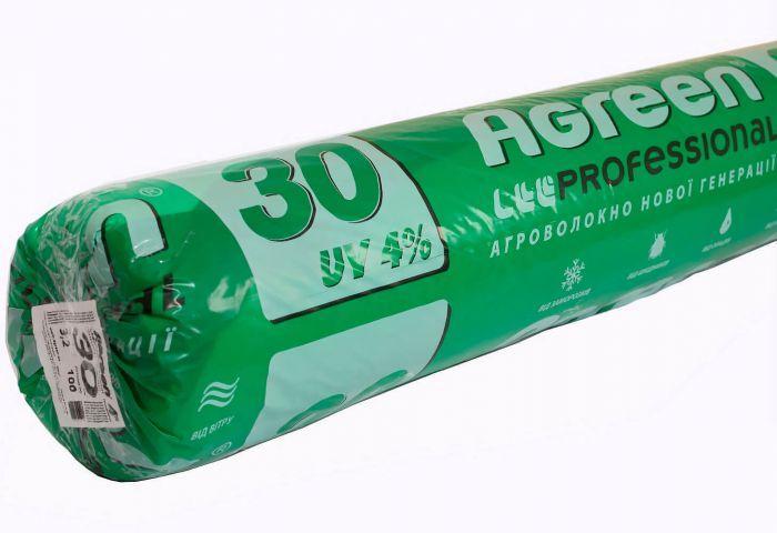 Агроволокно Agreen белое 30 плотность (1,6х100м) площадь 160 кв.м. укрывное