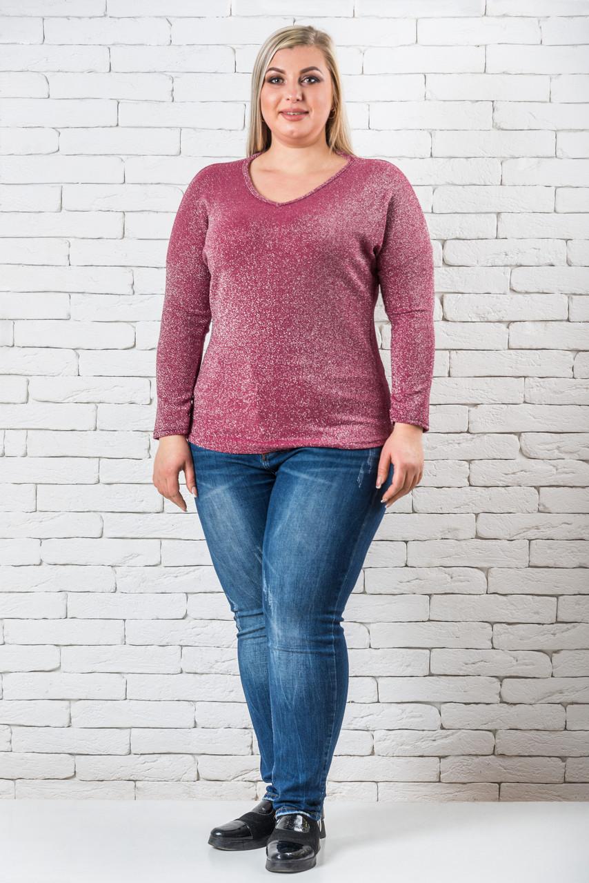 Женский свитер 50-56 розовый
