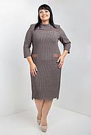 Деловое стильное платье (54-58 р-ры ), фото 1
