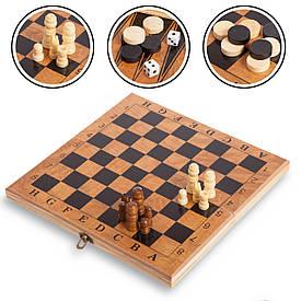 Шахматы, шашки, нарды 3 в 1 (24 x 24см) S2414