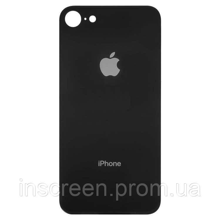 Задняя крышка для Apple iPhone 8 черная, с маленьким отверстием под камеру, Оригинал Китай