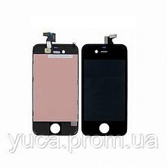 Дисплей для APPLE iPhone 4 с чёрным тачскрином high copy