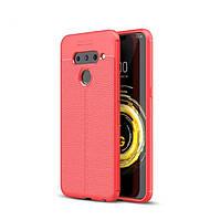 Чехол Auto Focus для LG V50 ThinQ силикон Original Soft Touch красный