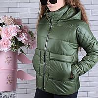 Куртка подростковая демисезонная #750 для девочек 9-10-11-12-13-14 лет (134-164 см). Хаки. Оптом.