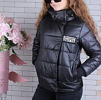 Куртка подростковая демисезонная #45445 для девочек 9-10-11-12-13-14 лет (134-164 см). Черная. Оптом.