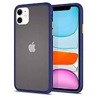 Чохол Spigen для iPhone 11 Ciel Color Brick, Navy (076CS27512)