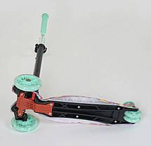 """Самокат А 25600 /779-1343 MAXI """"Best Scooter"""" (1) пластмасовий, 4 колеса PU, СВІТЛО, фото 2"""