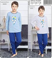 """Пижама байковая для мальчика """"Пингвины"""", фото 1"""