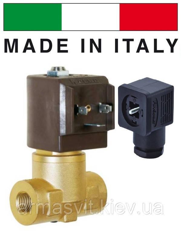 """Электромагн. клапан CEME (Италия) 8324, НЗ, 1/2"""", 140C, 220В нормально закрытый для воды, воздуха"""