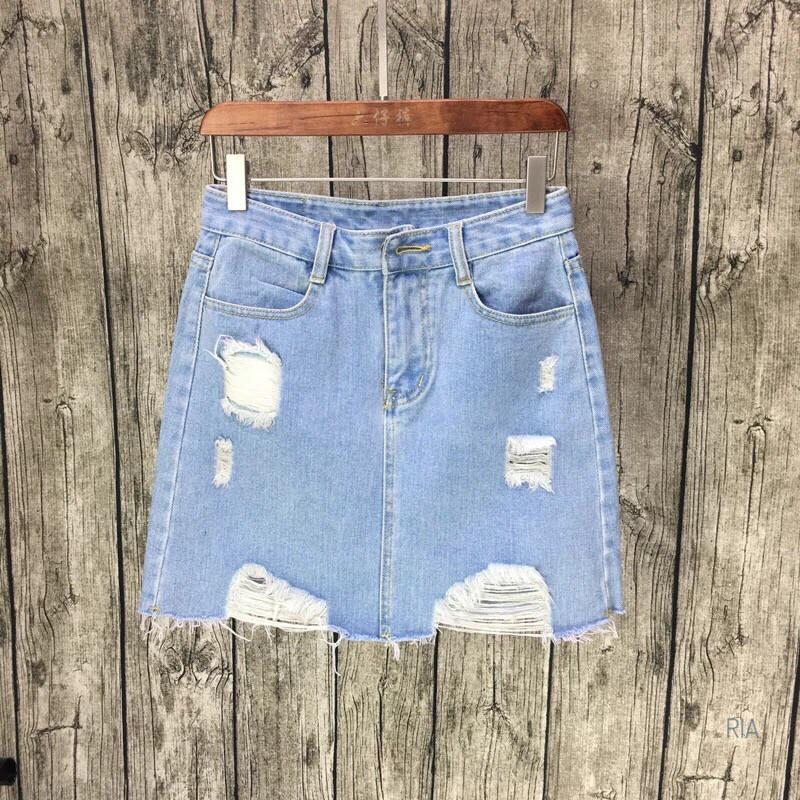 Джинсовые юбки в расцветках:  Размеры:  ХЛ (14010)